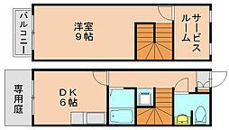 カーサJR箱崎[1階]の間取り