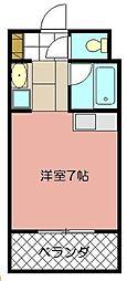 オリエンタル折尾駅[203号室]の間取り