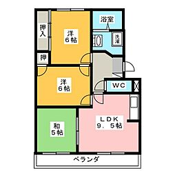 エステート南山TS1[3階]の間取り