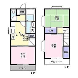 テラスハウス矢部B棟[1階]の間取り