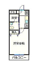 神奈川県相模原市中央区相模原7丁目の賃貸マンションの間取り