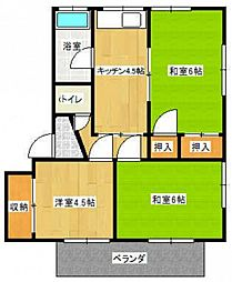 伊福サンコーポ[2階]の間取り