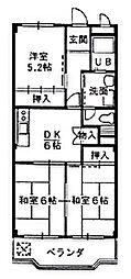 アメニティハウス[2階]の間取り