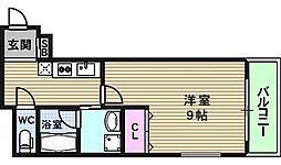 リバーライズ東小橋[606号室]の間取り