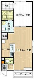 Maple Court[2階]の間取り