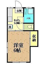 東京都世田谷区下馬3丁目の賃貸アパートの間取り