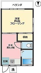 小野澤荘A 50B[2階]の間取り