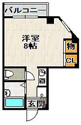 御園第六マンション[301号室]の間取り