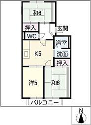 キャスティ犬山[2階]の間取り