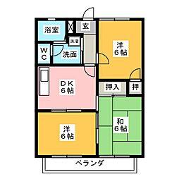 ファミーユ明和II[1階]の間取り