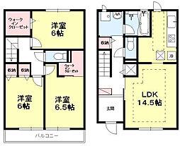 [タウンハウス] 東京都世田谷区大蔵5丁目 の賃貸【/】の間取り
