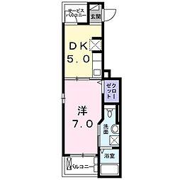 K2ハウス[102号室]の間取り