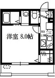 神奈川県横浜市磯子区中原1丁目の賃貸アパートの間取り