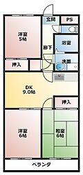 スパジオ665[4階]の間取り