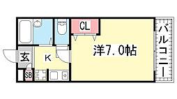 レディースマンションスズラン[206号室]の間取り