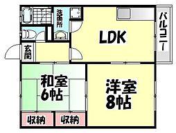 大阪府和泉市王子町3丁目の賃貸マンションの間取り