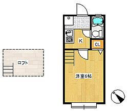 ローズアパート14番館A棟[110号室]の間取り