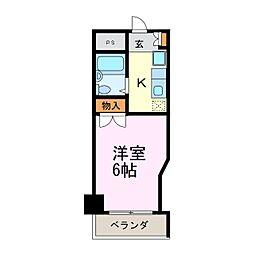 第2沢の井ビル[404号室]の間取り