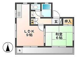 川崎アパート[1階]の間取り