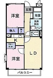 フローレスSUZUKI[205号室]の間取り