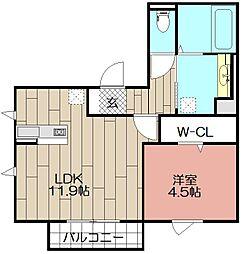 D-room博多駅南 弐番館[302号室]の間取り