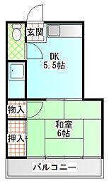 小野アパート[203号室]の間取り
