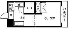 東雲コーポ[1階]の間取り