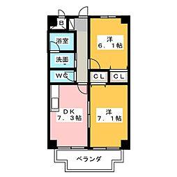 テックハウジング14[3階]の間取り
