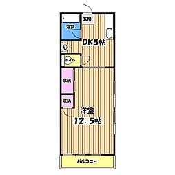 ロイヤル矢嶋[1階]の間取り