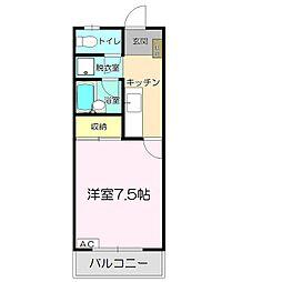 コーポ一畑・西持田[4階]の間取り