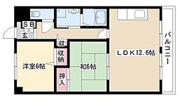 愛知県名古屋市南区戸部下2丁目の賃貸マンションの間取り
