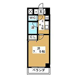 テルシノ北仙台[4階]の間取り