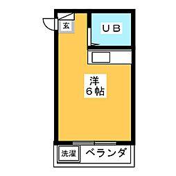 ヴィラ大橋II[4階]の間取り