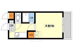 ジュネスTUKUMO[3階]の間取り