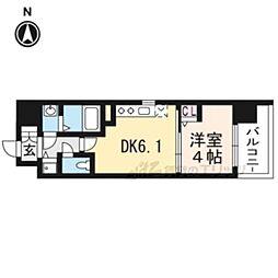 京都地下鉄東西線 太秦天神川駅 徒歩6分の賃貸マンション 3階1DKの間取り