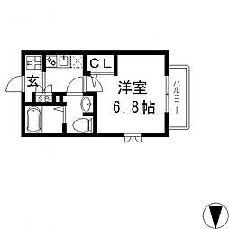 アートメゾン[102号室号室]の間取り