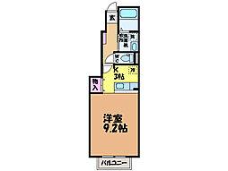 愛媛県松山市正円寺1丁目の賃貸アパートの間取り