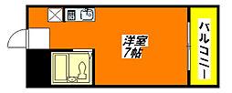 第2ハラダハイツ 308号室[3階]の間取り