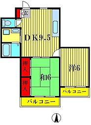 ワコー21[3階]の間取り