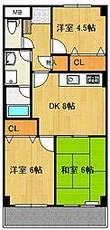 パープルマウンテン[2階]の間取り