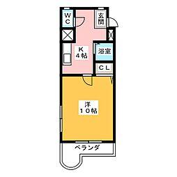 プライムコート東山[3階]の間取り