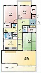 東急ドエルアルス阿倍野丸山通[3階]の間取り
