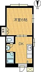 シャトー栗原[4階]の間取り