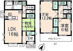 [一戸建] 東京都日野市西平山1丁目 の賃貸【/】の間取り