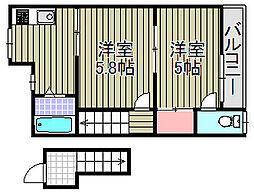 レモンイエロー2[203号室]の間取り