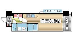エスリード神戸三宮パークビュー[704号室]の間取り