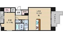 SHUNKI江戸堀[2階]の間取り