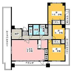 メルヴェイユ徳川[7階]の間取り