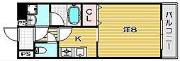 ブロッサム茨木[603号室]の間取り