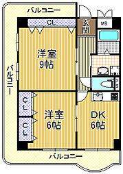 セントラルプラザ[4階]の間取り
